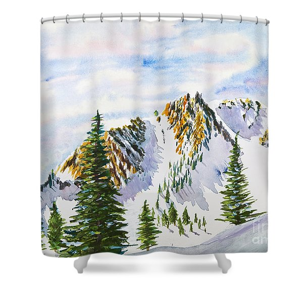 Lone Tree In The Morning Shower Curtain