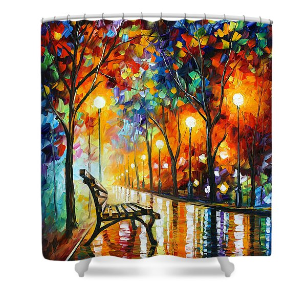Loneliness Of Autumn Shower Curtain