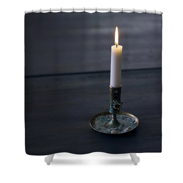Lonely Candle Shower Curtain