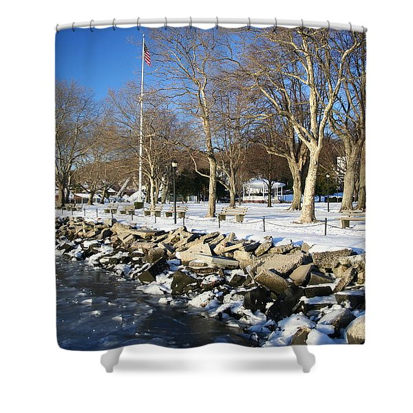 Lonely Park Shower Curtain