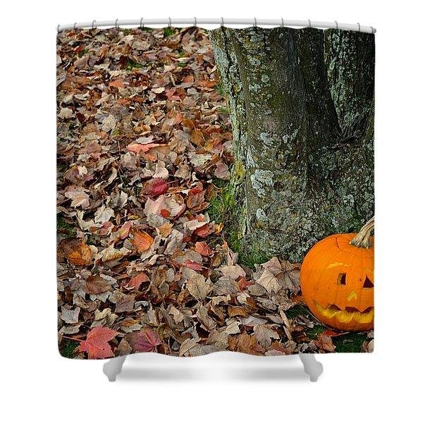 Lonely Pumpkin Shower Curtain