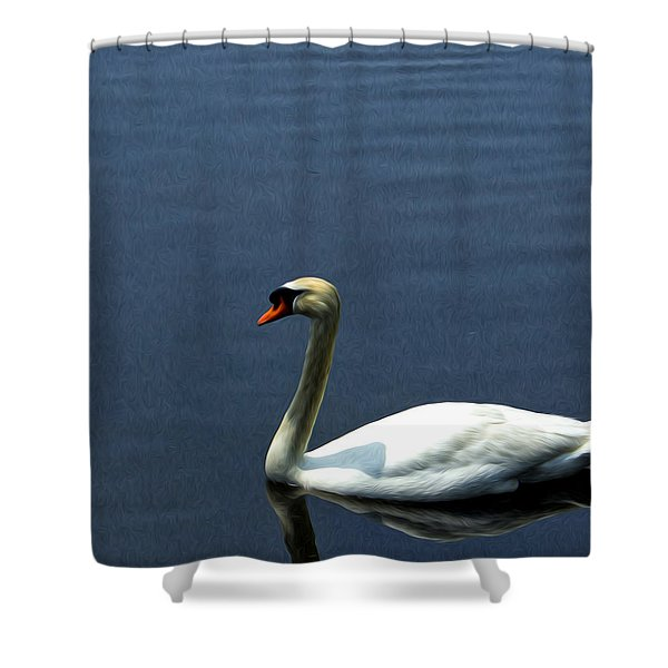 Lonesome Swan Shower Curtain
