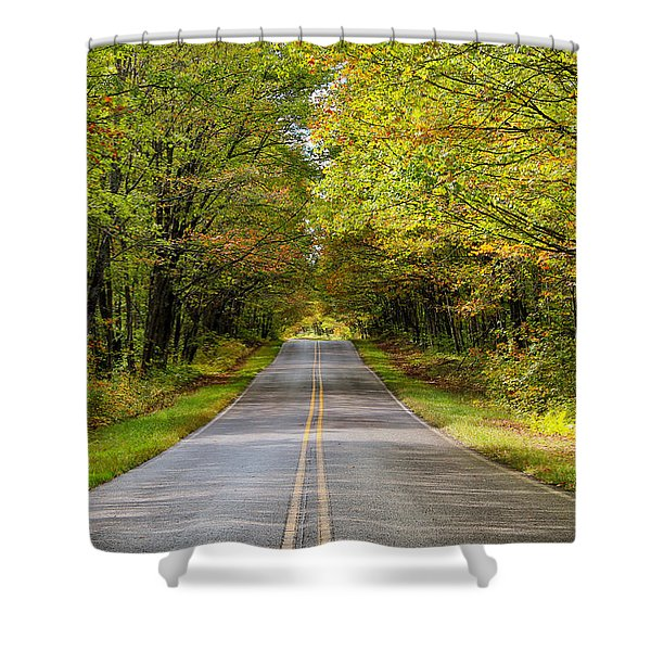 Long And Winding Road   2 Shower Curtain
