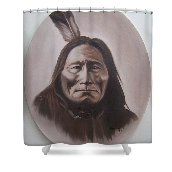 Long Bear Shower Curtain