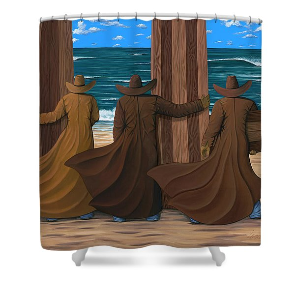 A Long Ride West Shower Curtain