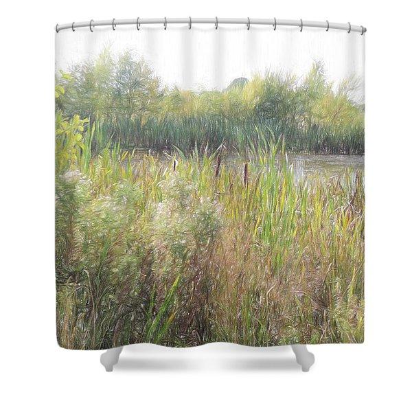 Long Run Meadow  Shower Curtain
