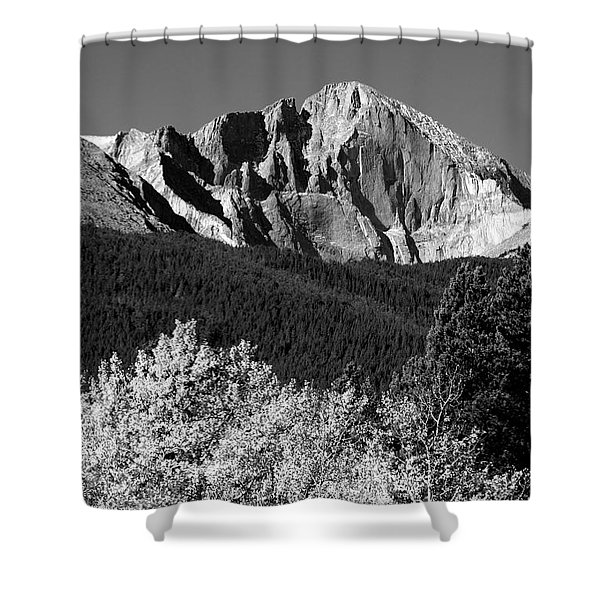 Longs Peak 14256 Ft Shower Curtain