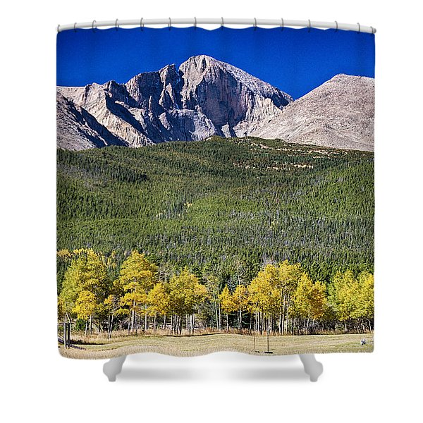 Longs Peak A Colorado Playground Shower Curtain
