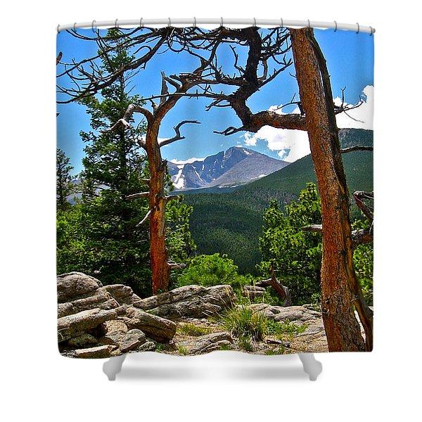 Longs Peak Shower Curtain