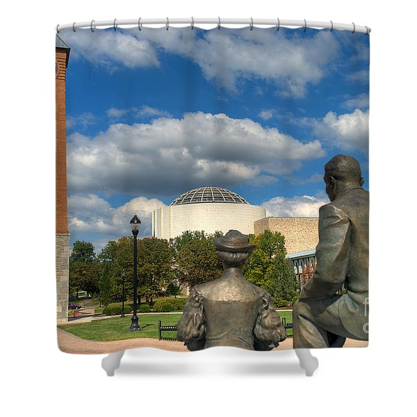 Look What They Built For Us Kitty Shower Curtain
