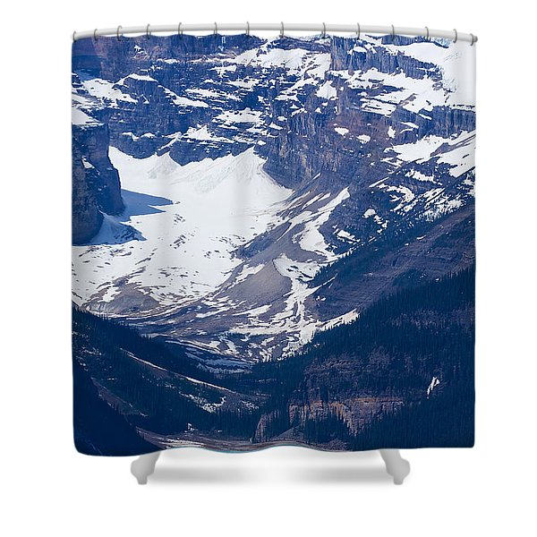 Looking Down At Lake Louise #2 Shower Curtain