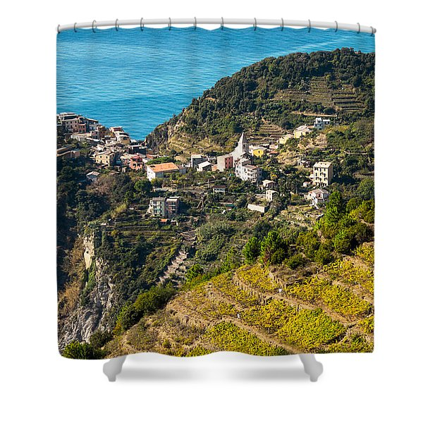 Looking Down Onto Corniglia Shower Curtain