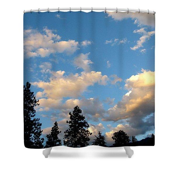 Looking East At Sundown Shower Curtain