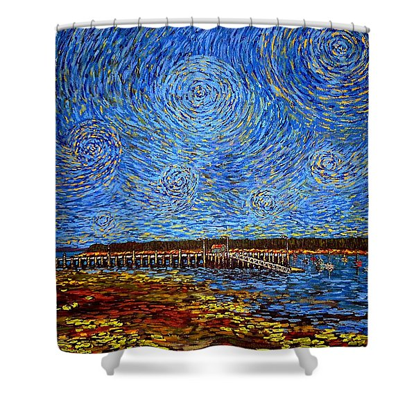 Looking East - St Andrews Wharf 2013 Shower Curtain
