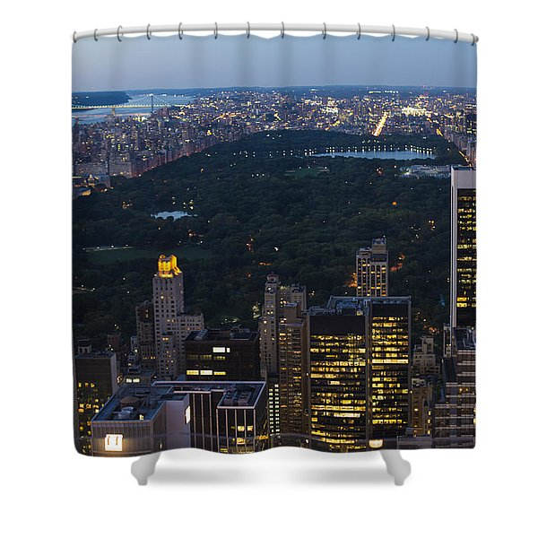 Looking From Top Of The Rock Shower Curtain