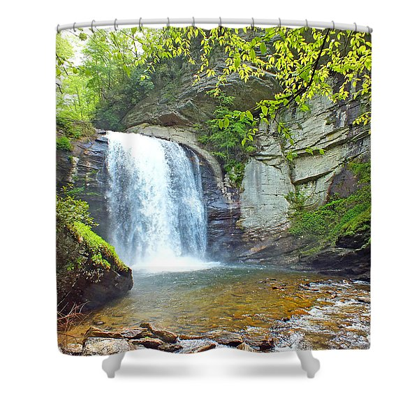 Looking Glass Waterfall In The Spring 2 Shower Curtain