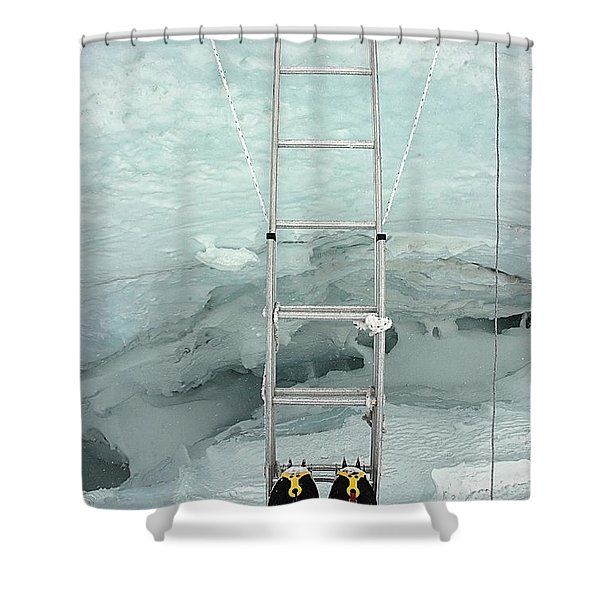 Looking Into Crevasse On Mount Everest Shower Curtain