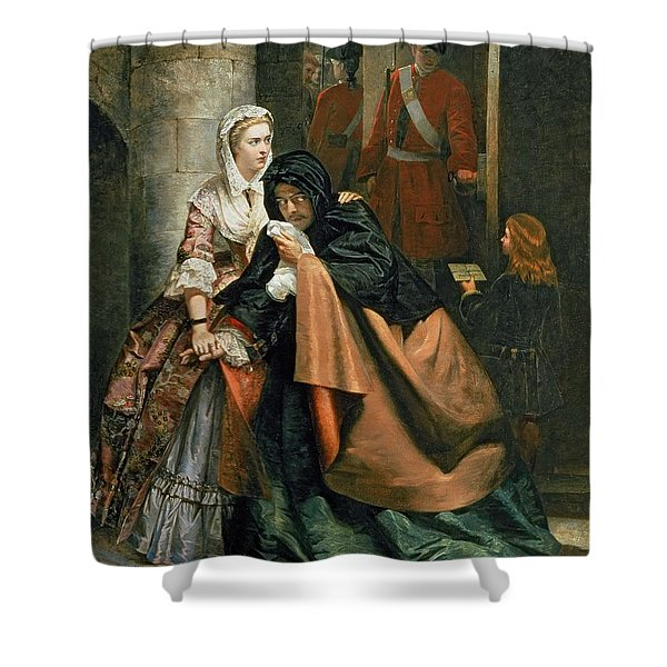 Lord Nithsdale, Escape From The Tower Shower Curtain