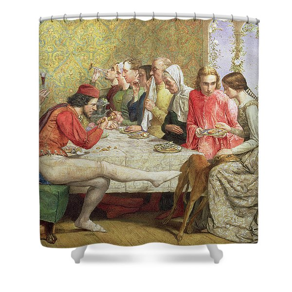 Lorenzo And Isabella Wc On Paper Shower Curtain