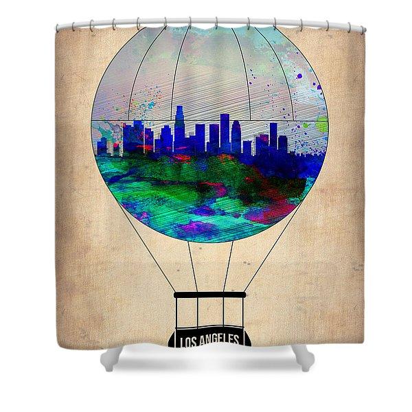 Los Angeles Air Balloon Shower Curtain