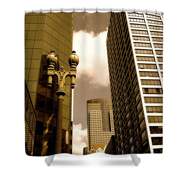 Los Angeles Downtown Shower Curtain