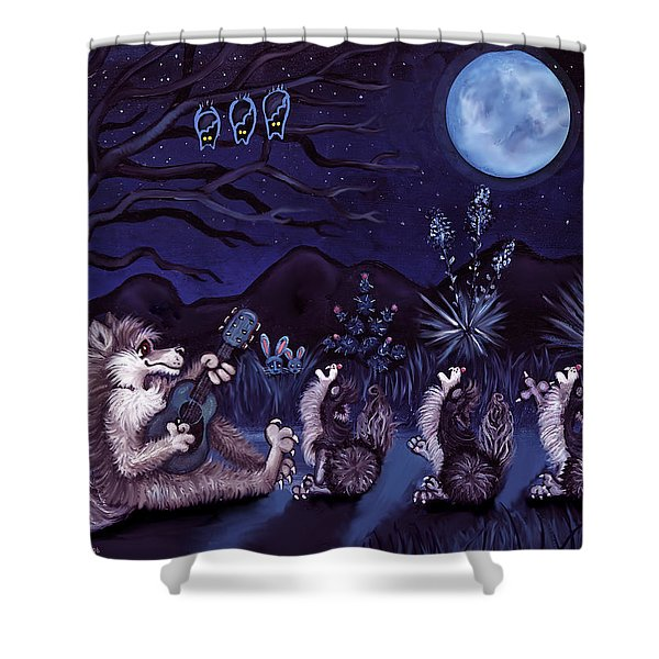Los Cantantes Or The Singers Shower Curtain