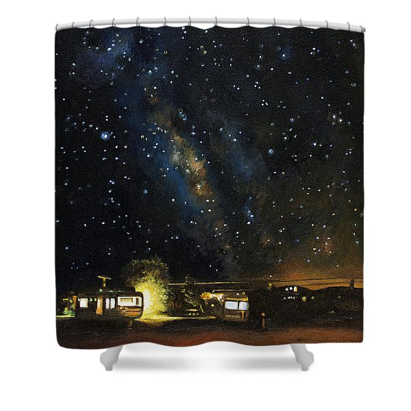 Los Rancheros Rv Park Shower Curtain