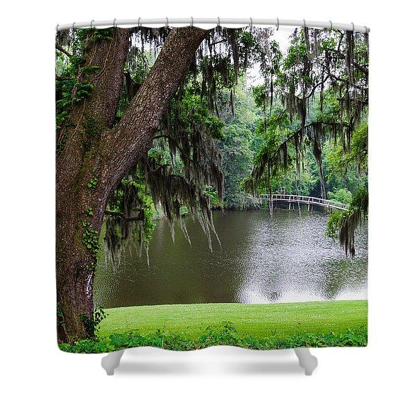 Lost Bridge Shower Curtain