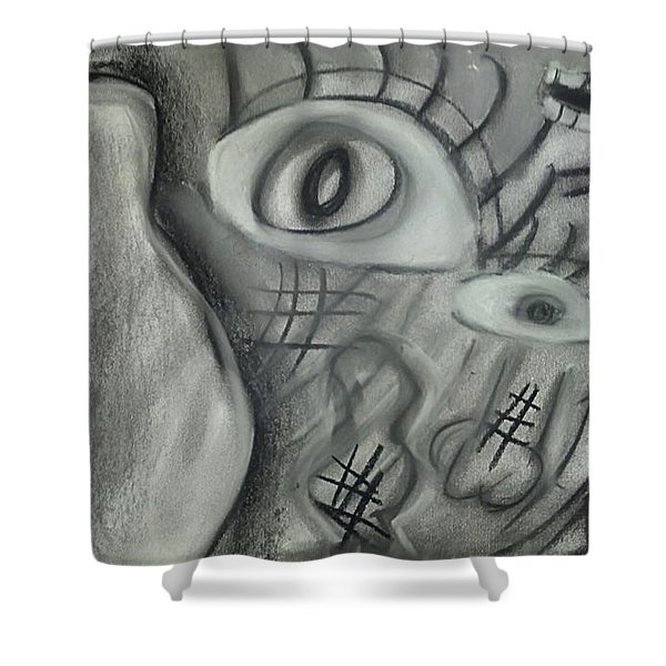 Lost In Chaos Shower Curtain