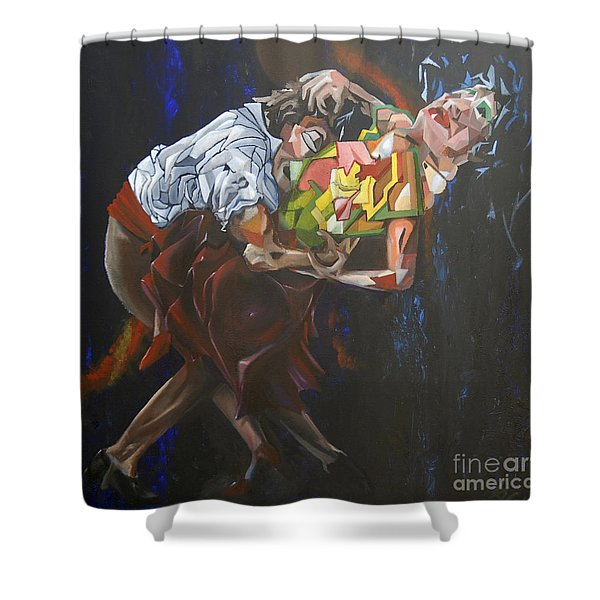 Lost In Dance Shower Curtain