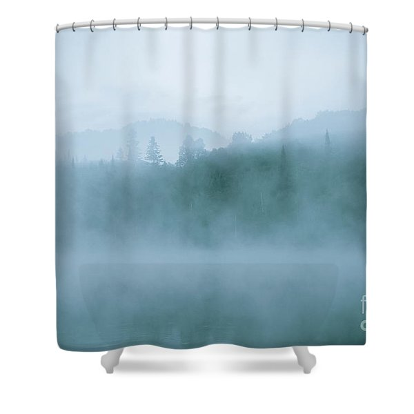Lost In Fog Over Lake Shower Curtain