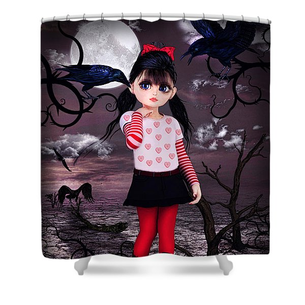 Lost Little Girl Shower Curtain