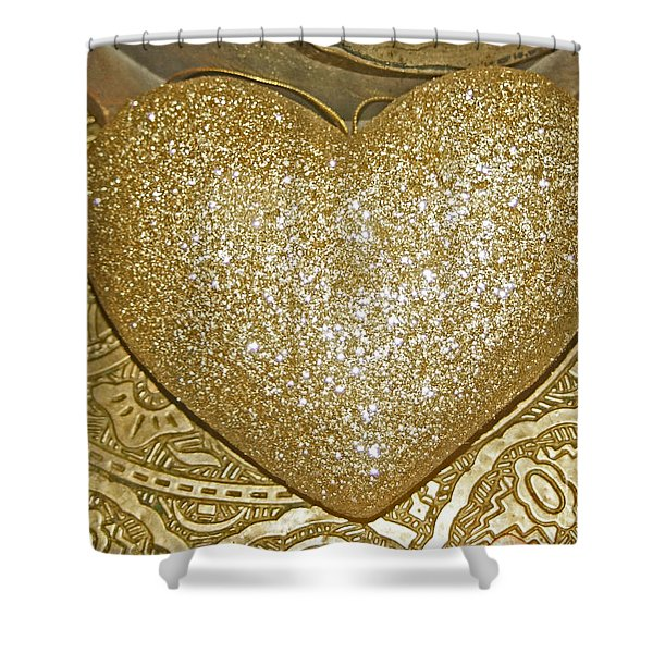 Lost My Golden Heart Shower Curtain