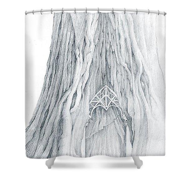Lothlorien Mallorn Tree Shower Curtain