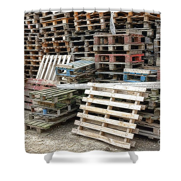 Lots Of Pallets Shower Curtain