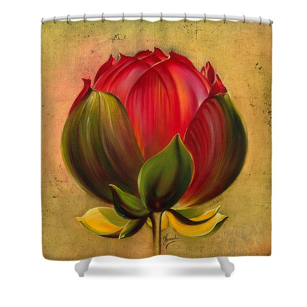 Lotus Bulb Shower Curtain