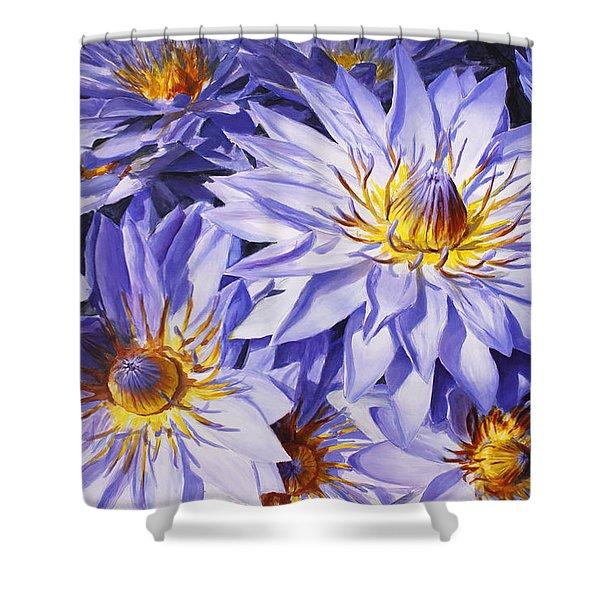 Lotus Light - Hawaiian Tropical Floral Shower Curtain