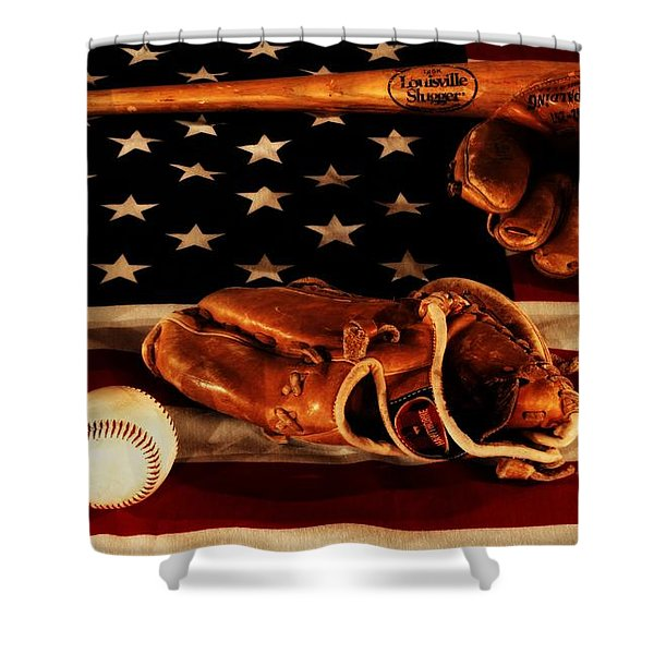 Louisville Slugger Shower Curtain