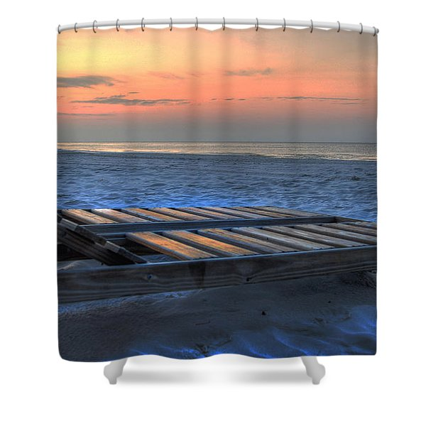 Lounge Closeup On Beach ... Shower Curtain
