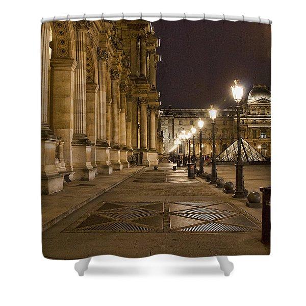 Louvre Courtyard Shower Curtain