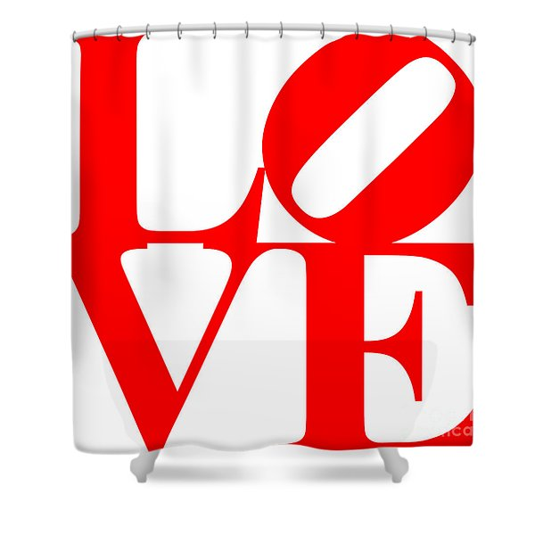 Love 20130707 Red White Shower Curtain