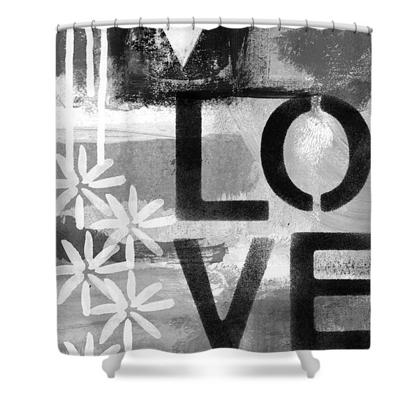 Love- Abstract Painting Shower Curtain