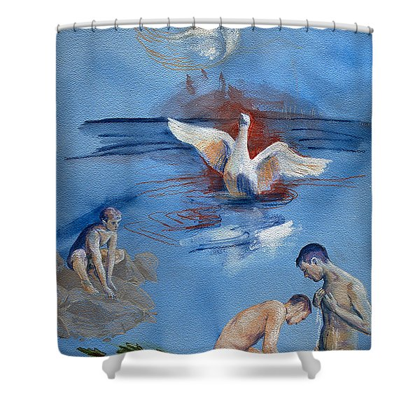 Love And Danger Shower Curtain