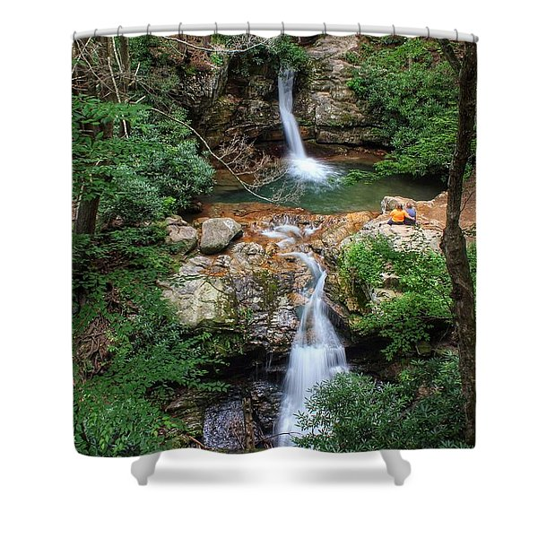 Love At The Blue Hole Shower Curtain