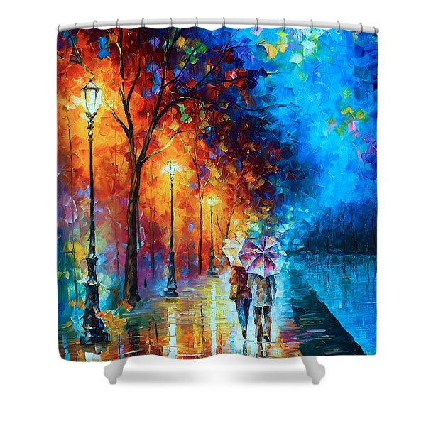 Love By The Lake Shower Curtain