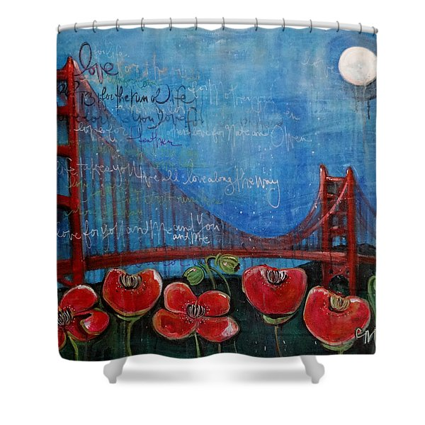 Love For San Francisco Shower Curtain