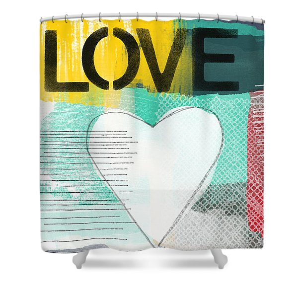 Love Graffiti Style- Print Or Greeting Card Shower Curtain