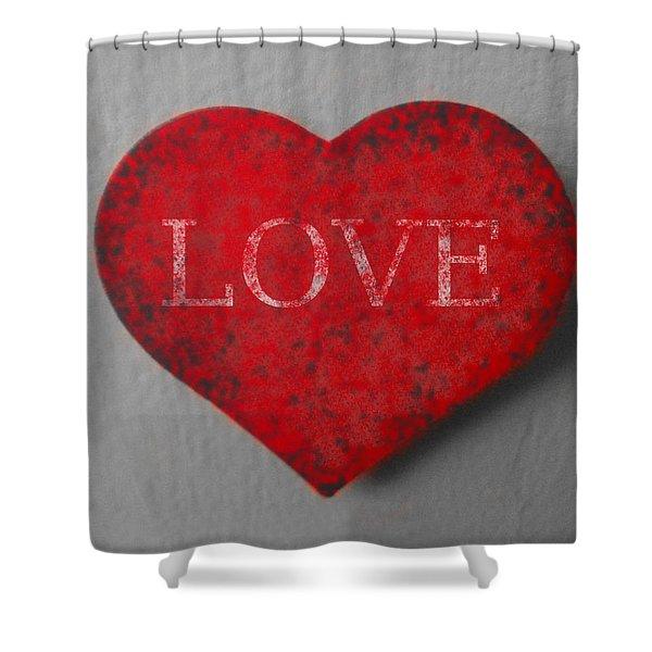 Love Heart 1 Shower Curtain