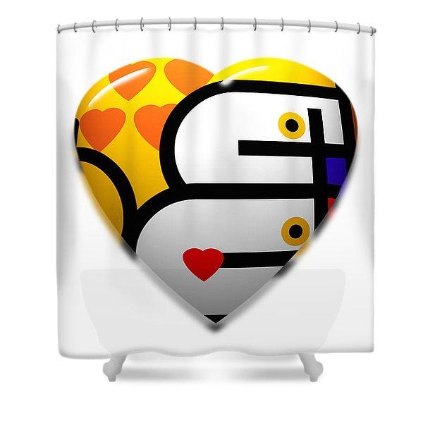 Love Heart Pop Shower Curtain