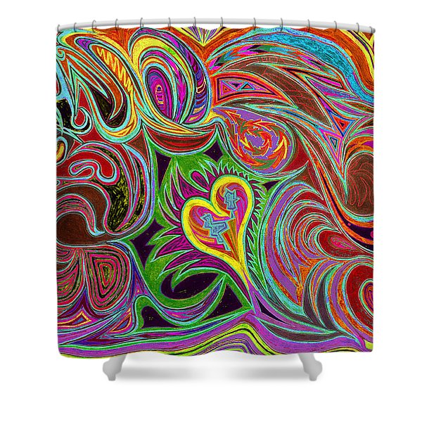 love in every shade of U v7 - love in every shade of blue Shower Curtain